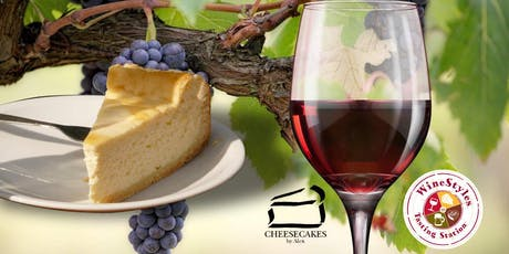 Wine and locally-made cheesecakes pairing/tasting event tickets