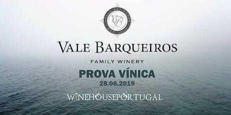 Prova Vinica Vale Barqueiros Alentejo bilhetes