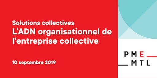 Atelier Solutions collectives | L'ADN organisationnel de l'entreprise d'économie sociale
