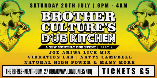 Brother Culture's Dub Kitchen Part 2 feat. Joe Ariwa & Family