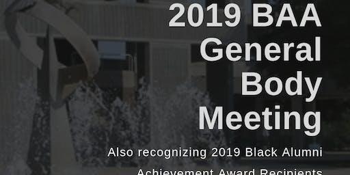 2019 BAA General Body Meeting & Alumni Achievement Awards