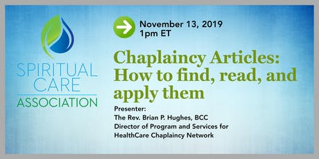 Chaplaincy Articles: How to Find, Read, and Apply Them tickets
