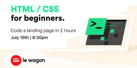 Code a landing page in 2h - Le Wagon workshop tickets