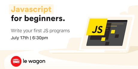 Javascript 101 - free coding workshop tickets