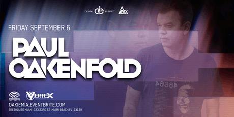Paul Oakenfold at Treehouse tickets