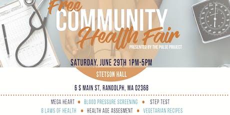 Free Community Health Fair  tickets