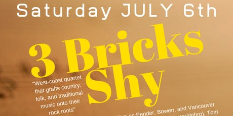 3 BRICKS SHY - Folk rock fusion quartet tickets