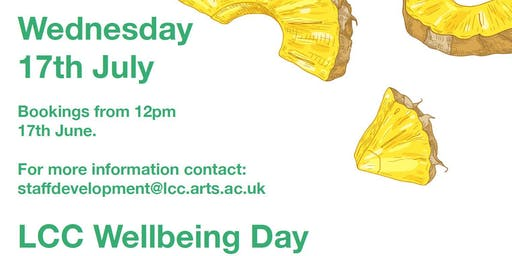 LCC Staff Wellbeing Day (Wednesday 17 July 2019)