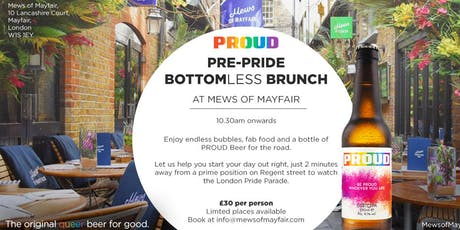 Pre Pride Bottomless Brunch with Proud Beer  tickets