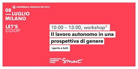 Il lavoro autonomo in una prospettiva di genere / Let's Coop - Smart biglietti