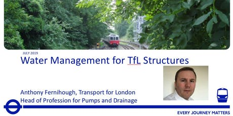 Engineers Australia UK Tech Talk -  Water Management for TfL Structures tickets