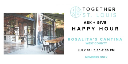 Together Digital St. Louis - July Member's ASK + GIVE Happy Hour