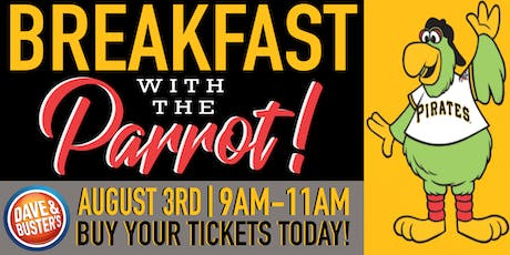 D&B North Hills Breakfast with the Pittsburgh Pirates Parrot! tickets
