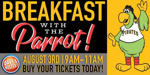 D&B North Hills Breakfast with the Pittsburgh Pirates Parrot!