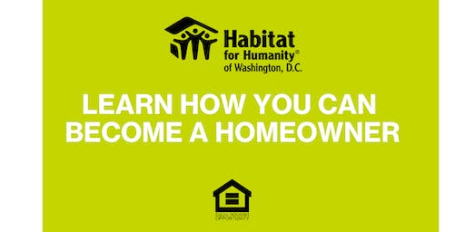 DC Habitat Homebuyer Information Sessions - Additional Dates