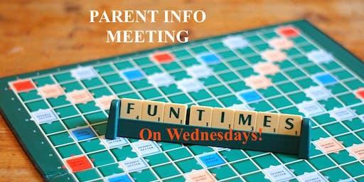 FUNdamentals Parent Orientation & Info Meeting