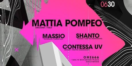 Sunday Sanctuary presents: MATTIA POMPEO, MASSIO, SHANTO, CONTESSA tickets