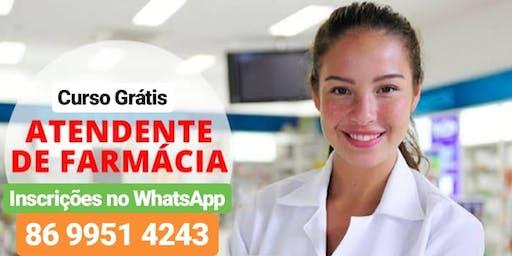 Curso Atendente de Farmácia, Inicia 13 de julho de 14h as 16h( 4 sabados)
