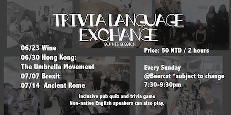 Trivia Language Exchange tickets