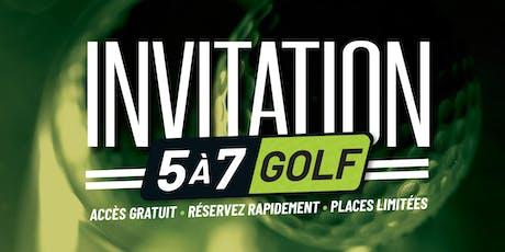 5 à 7 golf avec Gendrongolf 2019 Tickets