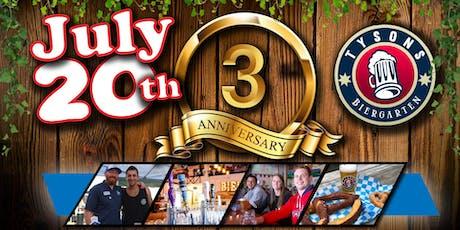 Tyson's Biergarten 3rd Anniversary Party! tickets