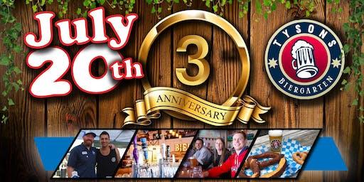 Tyson's Biergarten 3rd Anniversary Party!