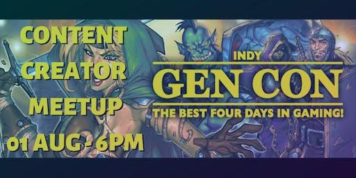 GenCon Content Creator Meet-Up