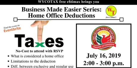 Business Made Easier: Home Office Deductions  tickets