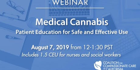WEBINAR: Medical Cannabis: Patient Education for Safe & Effective Use tickets