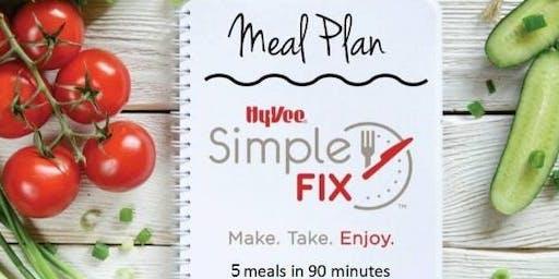 Simple Fix Meal Prepping Workshop: Get Grillin' Menu