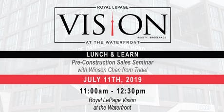 Pre-Construction Sales Seminar with Winson Chan from Tridel tickets