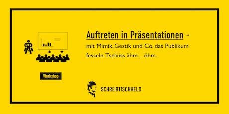 Workshop Auftreten in Präsentationen Benjamin Apfelbaum // SCHREIBTISCHHELD tickets