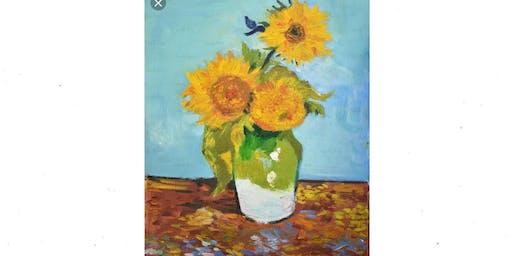 Van Gogh Sunflowers- Basics of Impressionism Oil Workshop- Memphis