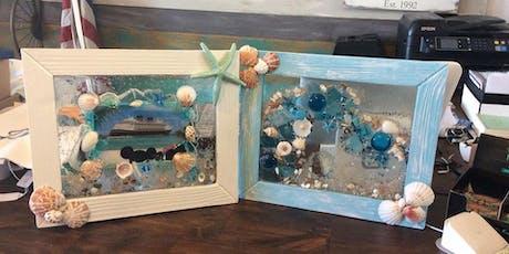 Sea Glass Framed Sun Catcher Art tickets