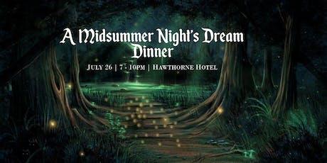 A Midsummer Night's Dream Dinner tickets