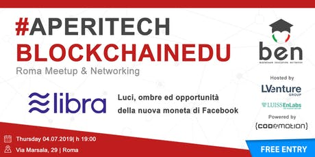 ROMA - Meetup #AperiTech di Blockchain Education Network Italia biglietti