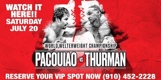 MANNY PACQUIAO vs. KEITH THURMAN at Cheetah of Wilmington