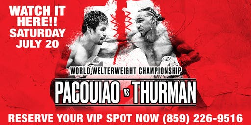 MANNY PACQUIAO vs. KEITH THURMAN at Platinum Dolls