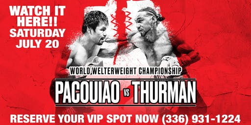 MANNY PACQUIAO vs. KEITH THURMAN at Mirage Exotic Nightlife