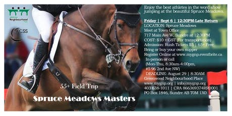 55+ Event - Spruce Meadows Masters tickets
