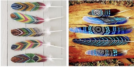 Kids Painted Feathers