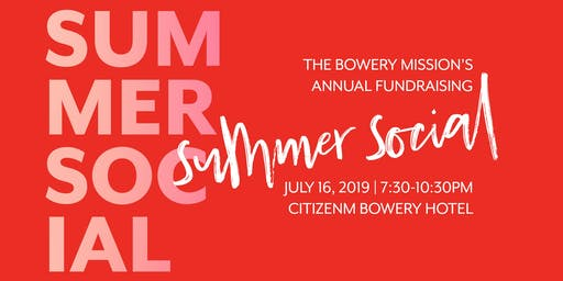 The Bowery Mission Summer Social 2019
