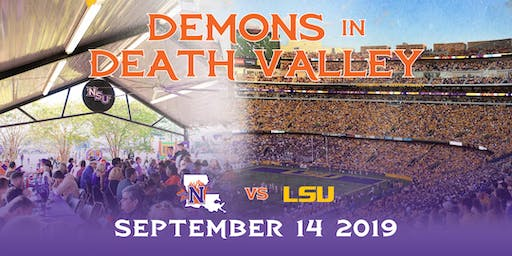 NSU vs LSU Game, Demons in Death Valley Tailgate, Tickets and Bus Trip