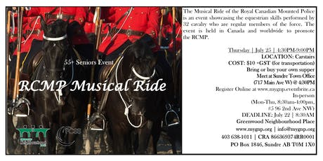 55+ Seniors Event RCMP Musical Ride tickets