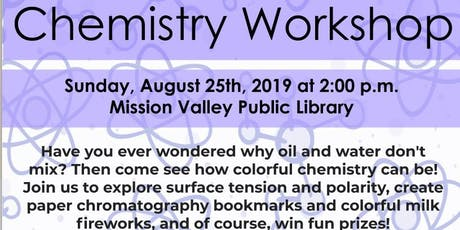 [All Girls STEM Society] Chemistry Workshop - August 25, 2019 tickets