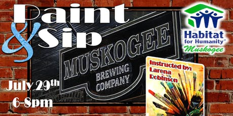 Paint & Sip for Habitat at the Muskogee Brewery tickets