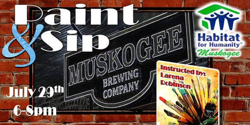 Paint & Sip for Habitat at the Muskogee Brewery