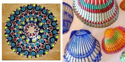 Mandala & Shell Painting