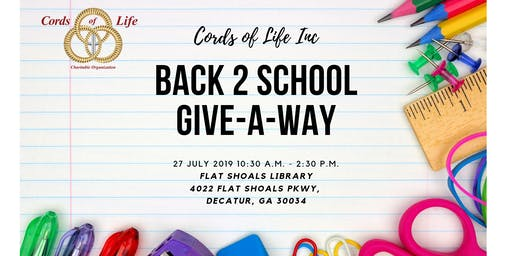 BACK 2 SCHOOL GIVE-A-WAY