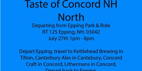 Beer Tour - Concord NH North, Kettlehead, Canterbury Ales,Concord Craft tickets
